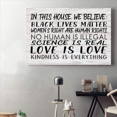 In this house black lives matter Canvas Prints #87H