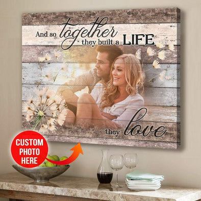 Personalized And So Together They Built a Life They Love Canvas Prints With Photo