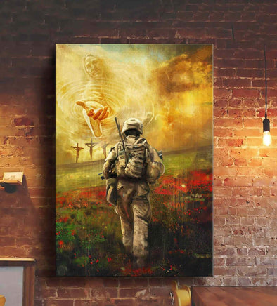 Jesus and veteran To the beautiful world Canvas Prints #KV