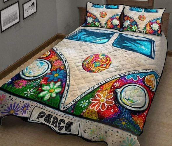 Mandala Camping Hippie Personalized Name Duvet Cover Bedding Set #V