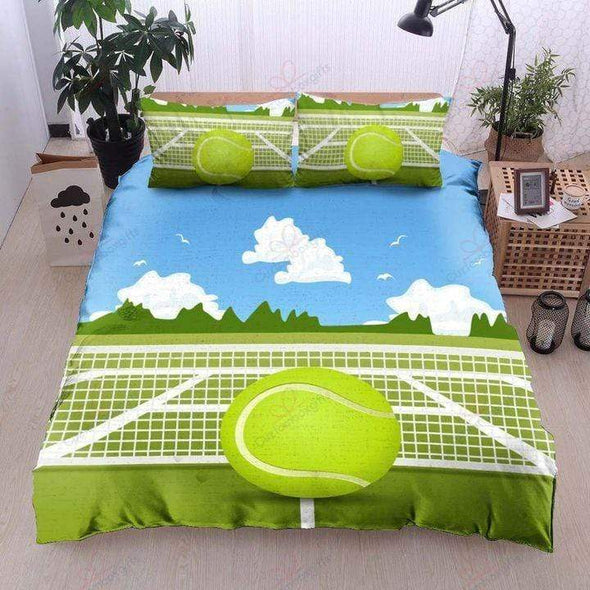Tennis Court Personalized Bedding Set with Name