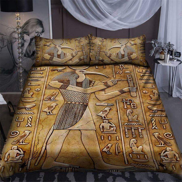 Thoth God Egyptian Bedding Personalized Name Comforter Set Duvet Cover Bedding Set #L