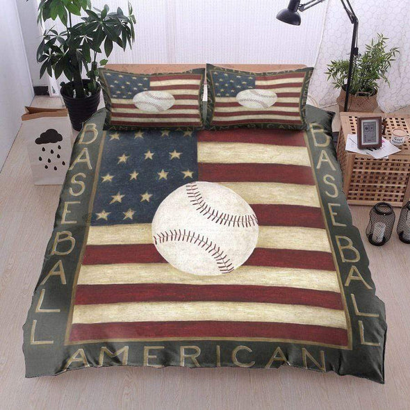 American Baseball Customized Bedding Set With Name And Number