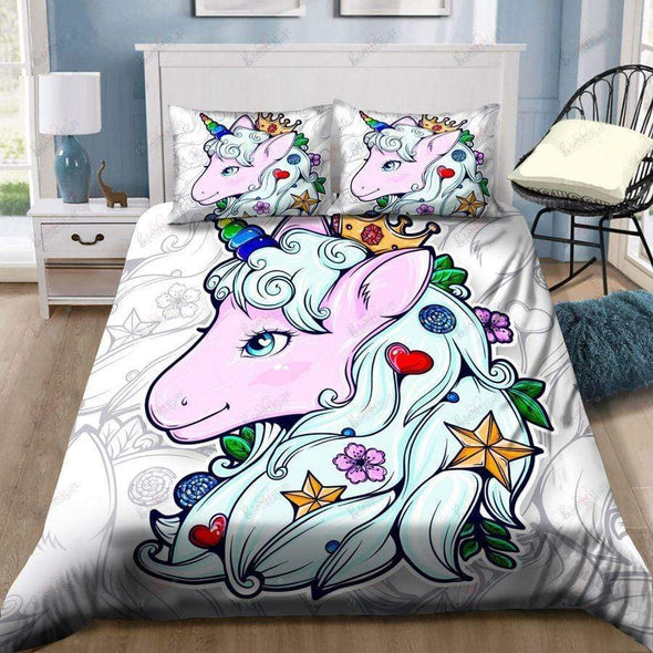 Gorgeous Unicorn Personalized Duvet Cover Bedding Set with Name