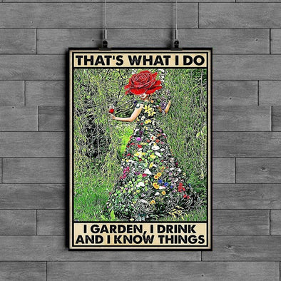 I Garden I Drink And I Know Things Flower Girl Canvas Prints