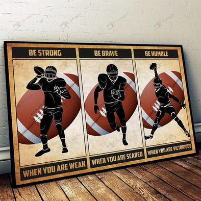 Hockey Be Strong Brave Humble Canvas Prints