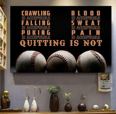 Baseball Quitting Is Not Canvas Prints #1012L