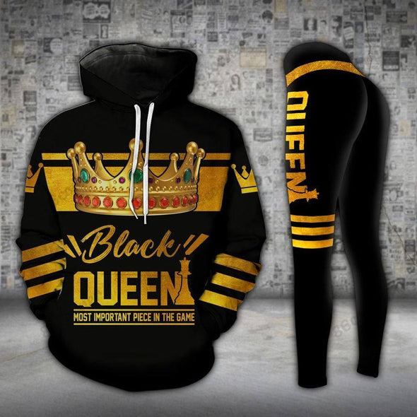 Gift for Mother Arfican Black Queen Mom Hoodie - Legging 3D