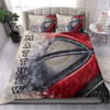 Basketball Disappear Personalized Duvet Cover Bedding Set with Your Name And Number #DH