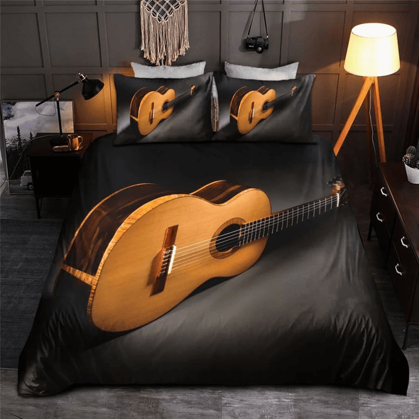Music Guitar 3D Bedding Personalized Name Duvet Cover Bedding Set