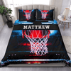 Basketball Hot Court Personalized Duvet Cover Bedding Set with Your Name