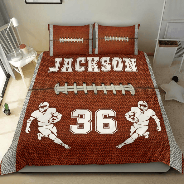 Football Style Personalized Duvet Cover Bedding Set with name