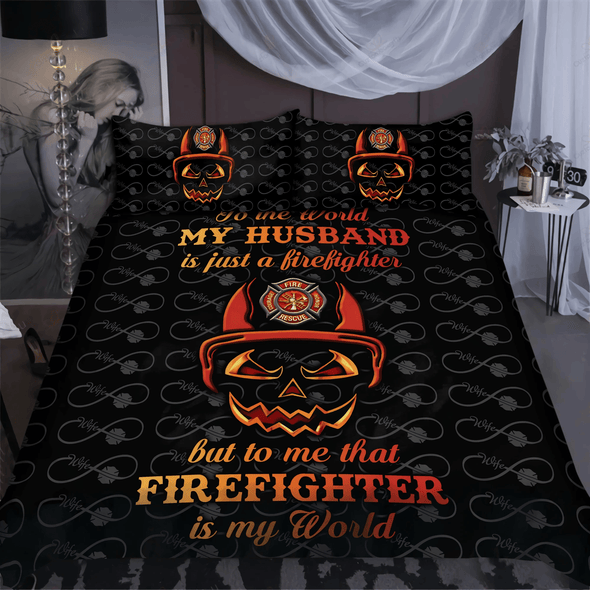 Firefighter Is My World Bedding Duvet Cover Bedding Set