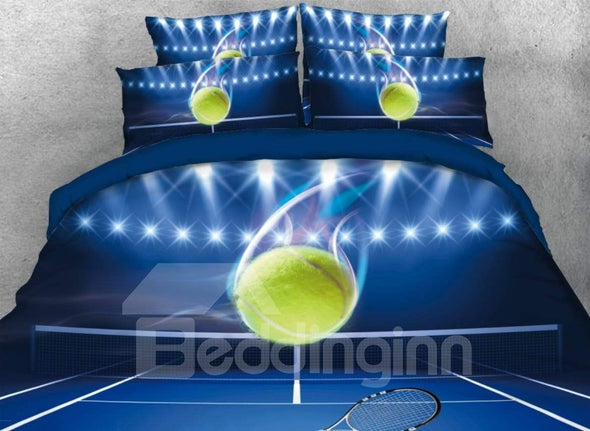Amazing Tennis Ball Personalized Bedding Set with Name