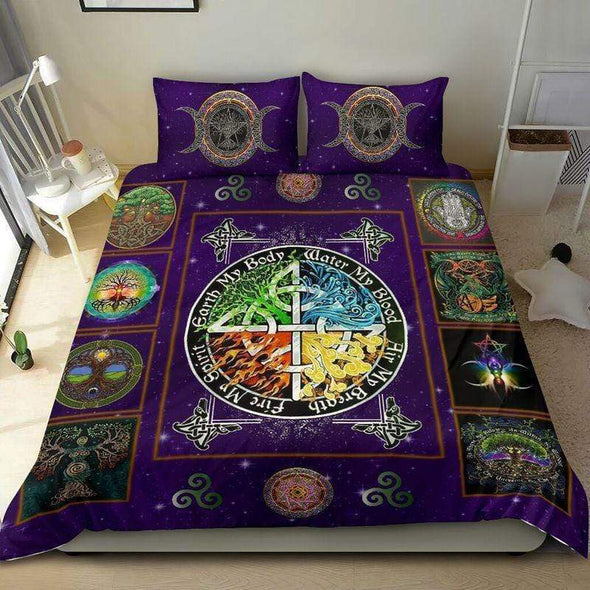 Tree Of Life Wicca Duvet Cover Bedding Set #1410H