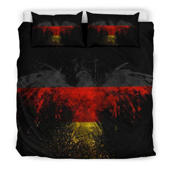 Germany Flag Eagle Personalized Name Bedding Set #H