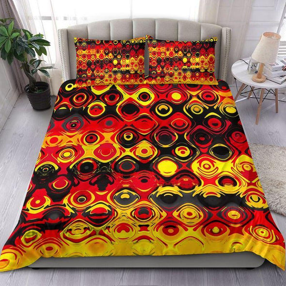 German Flag Color Personalized Name Bedding Set #1409HL