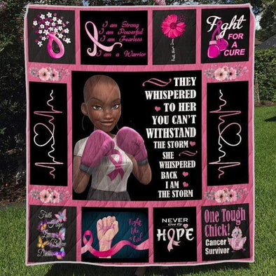 I Am The Storm Black Girl Breast The Cancer Quilt Blanket