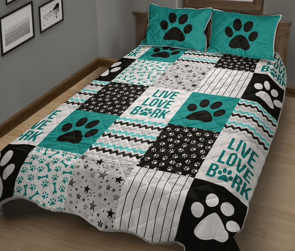Dog Shape Pattern Quilt Bed Set #2509HL