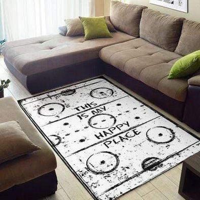 This is my happy place Hockey rink Rectangle Rug #2906L