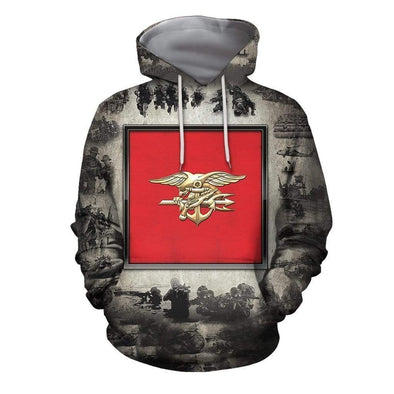 Military Insignia Hoodie 3D All Over Print