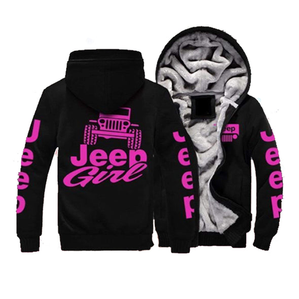 Jeep Girl Pink Fleece Hoodie #H