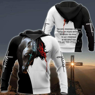 Magic Horse Jesus Hoodie 3D All Over Print