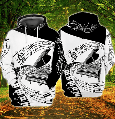 Piano Feeling Music Hoodie 3D All Over Print