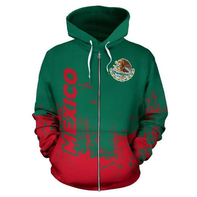 Mexico Smudge Style Hoodie 3D All Over Print