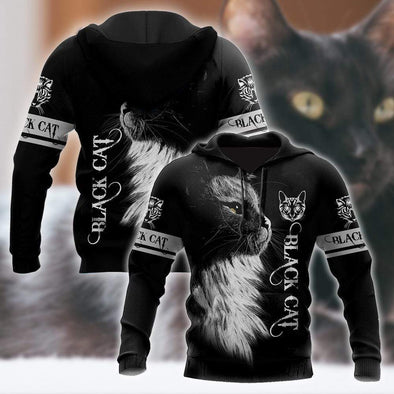 Love Black Cat Hoodie 3D All Over Print