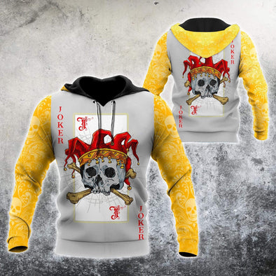 Joker Skull Card Hoodie 3D All Over Print