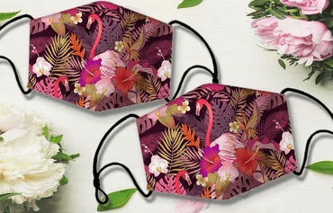 Flamingo floral Full printed Face Mask