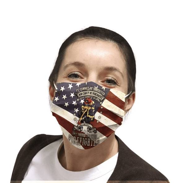 Forever title firefighter Full printed Face Mask