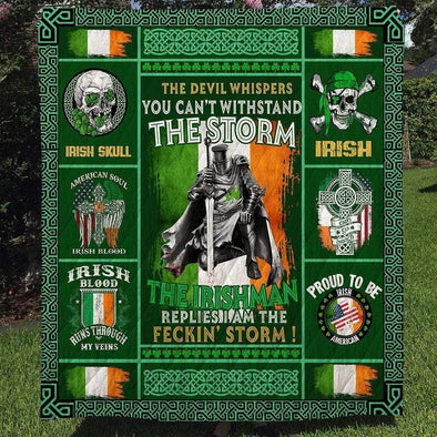 Irish Pride Happy St. Patrick's Day All Season Quilt Throw Blanket #L