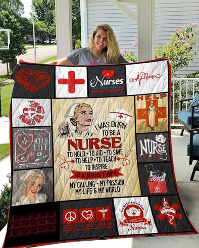 Proud to be a Nurse All Season Quilt Throw Blanket #2010L