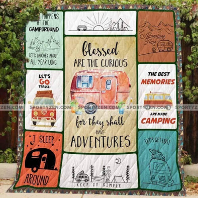 Travel Camping Memories Adventures All Season Quilt Throw Blanket