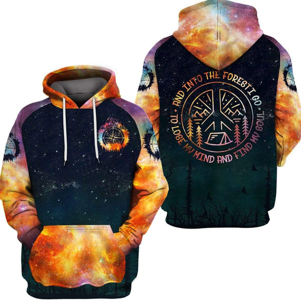 Galaxy To lose my mind and fine my soul Camping hoodie 3d all over print