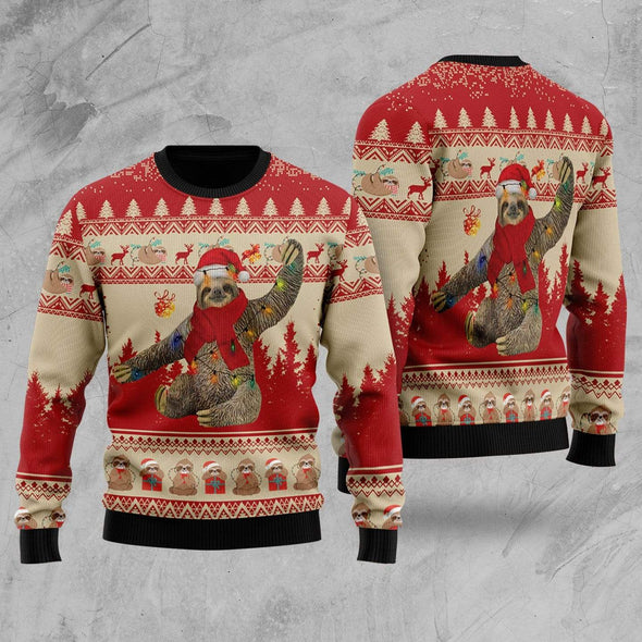 Sloth Red Christmas Sweater #311H