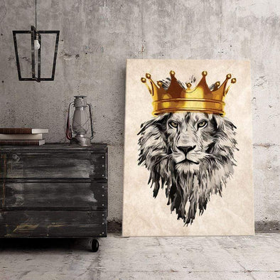 Lion King Crown Canvas Prints #210L