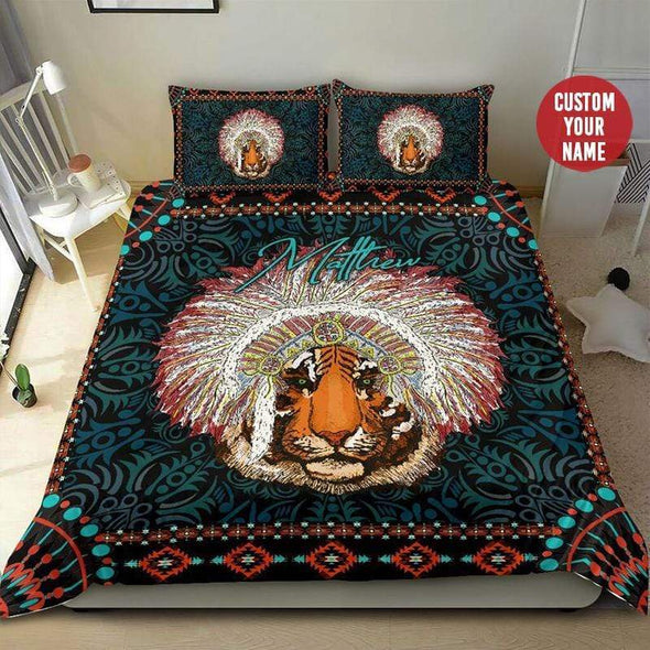 Tiger Native Personalized Name Duvet Cover Bedding Set #2007H