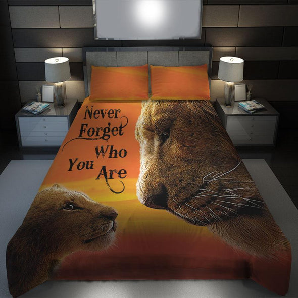 Lion Never Forget Who You Are Bedding Personalized Name Duvet Cover Bedding Set