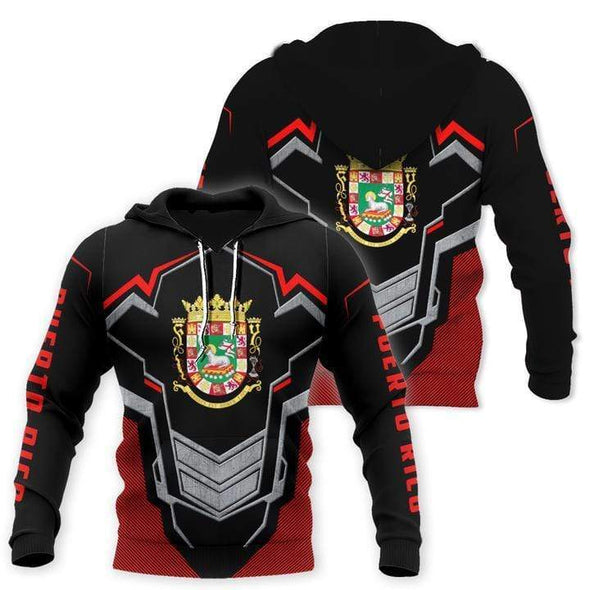 Amazing Puerto Rico Black Red Hoodie 3D All over print