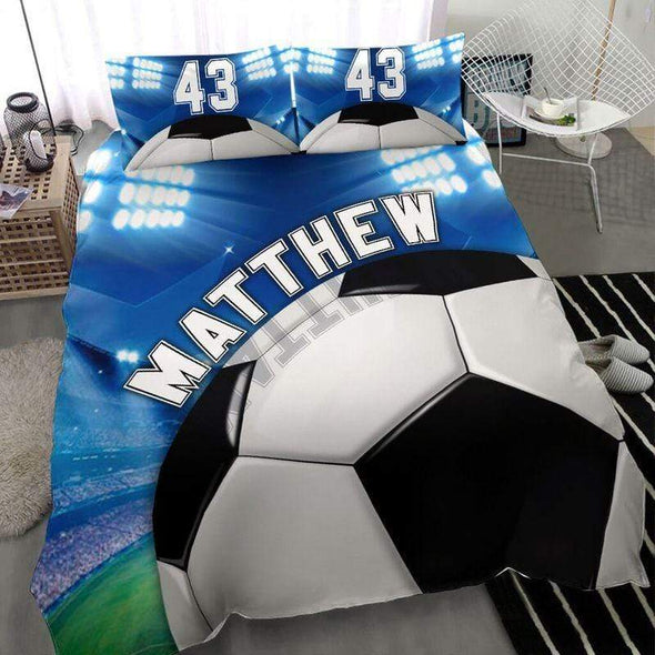 Amazing Soccer Stadium Personalized Name Duvet Cover Bedding Set #2210l