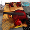Violin Lover Music Sheet Vintage Personalized Name Duvet Cover Bedding Set #2608V