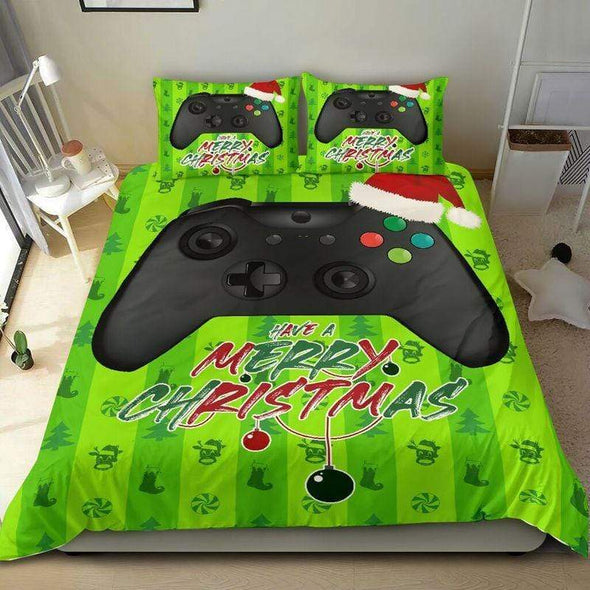 Gamer Christmas Duvet Cover Bedding Set 3D Printing Ball with Your Name