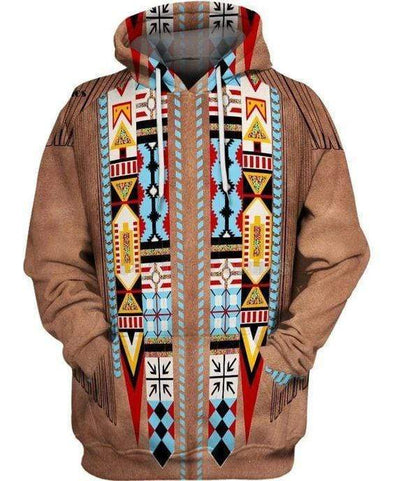 Native Indian Hoodie 3D All Over Print