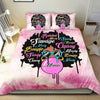 Melanin Poppin' Personalized Name Duvet Cover Bedding Set #0108l