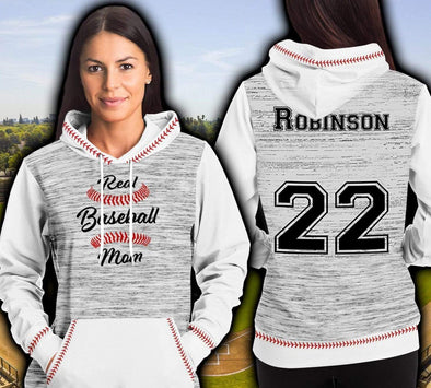 Real Baseball Mom Personalized Custom Name Hoodie 3D All over print #51220l