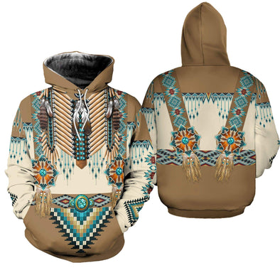 Native Americans Apache Style Hoodie 3D All Over Print