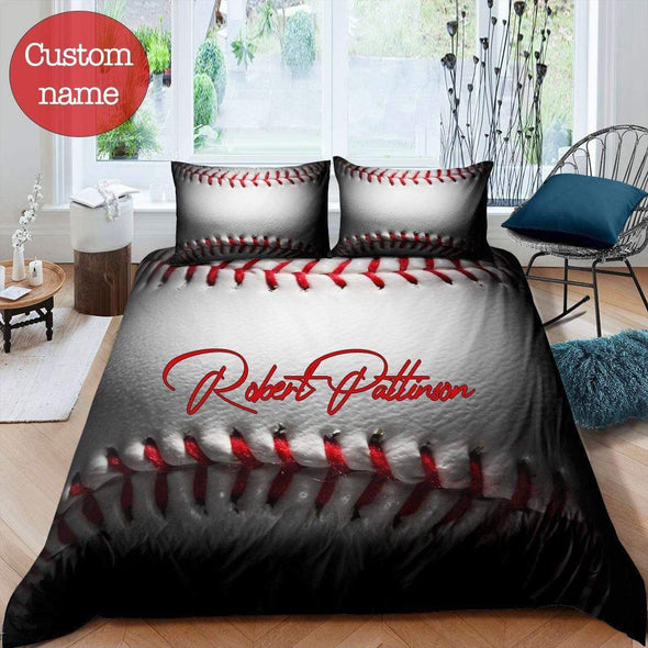Baseball Duvet Cover Bedding Set 3D Printing Ball with Your Name